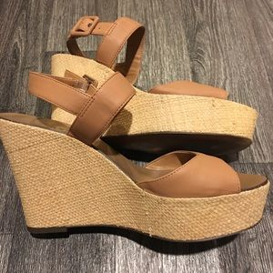 J.Crew Nude Strappy Wedge